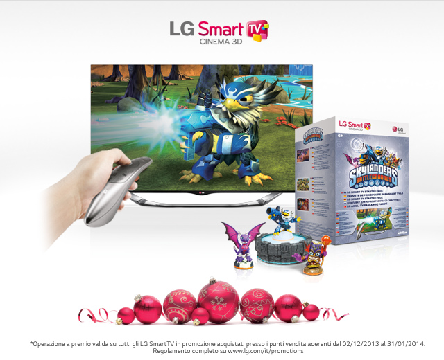 Lg porta skylander battleground sulle sue smart tv il for Regalo mobile tv