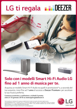 MUSICA ILLIMITATA E DI QUALITÀ CON GLI SMART HI-FI AUDIO LG