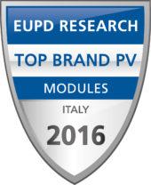 LG SOLAR RICEVE IL PREMIO TOP BRAND PV ITALIA 2016 DA EUPD RESEARCH