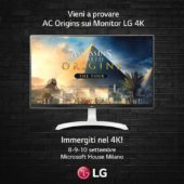 LG METTE IN MOSTRA IL MONITOR PC 4K 27UD69  ALL'ASSASSIN'S CREED® – THE TOUR DI UBISOFT