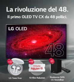 LG OLED CX: LA RIVOLUZIONE DEL 48  PROMETTE ANCORA PIÙ LIBERTÀ NELL'INTRATTENIMENTO