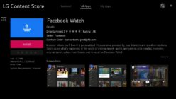 L'APP FACEBOOK WATCH È ORA DISPONIBILE  SUGLI LG SMART TV